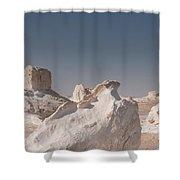 White Desert Shower Curtain
