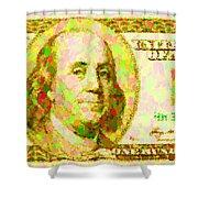 100 Dollar Shower Curtain