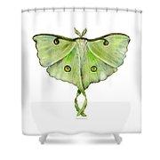 100 Luna Moth Shower Curtain