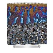 1001 Nights Over Granada Shower Curtain
