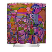 1008 Abstract Thought Shower Curtain
