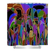 1009 Abstract Thought Shower Curtain