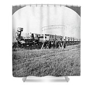 100th Meridian, 1866 Shower Curtain