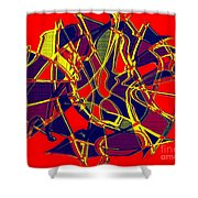 1010 Abstract Thought Shower Curtain
