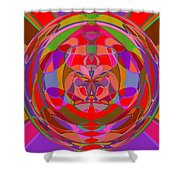 1015 Abstract Thought Shower Curtain