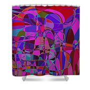 1016 Abstract Thought Shower Curtain