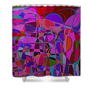 1017 Abstract Thought Shower Curtain