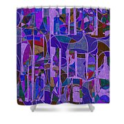 1022 Abstract Thought Shower Curtain