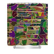 1023 Abstract Thought Shower Curtain