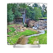 Sixes Mill - Dukes Creek - Square Shower Curtain