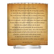 104- Theodore Roosevelt Shower Curtain