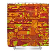 1045 Abstract Thought Shower Curtain