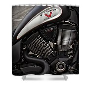 106ci V-twin Shower Curtain