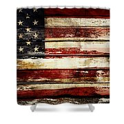 American Flag 33 Shower Curtain