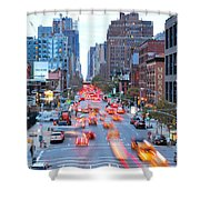 10th Avenue Rush Hour Shower Curtain