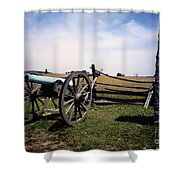 10th Mass Battery - Gettysburg Shower Curtain