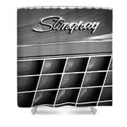 1972 Chevrolet Corvette Stingray Emblem Shower Curtain