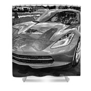2014 Chevrolet Corvette C7 Bw   Shower Curtain