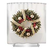 Advent Christmas Wreath  Shower Curtain