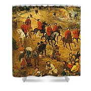 Ascent To Calvary, By Pieter Bruegel Shower Curtain