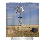 Australia - Windmill In The Wheat Field Shower Curtain