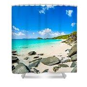 Beautiful Caribbean Beach Shower Curtain