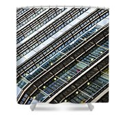 Canary Wharf London Abstract Shower Curtain