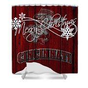 Cincinnati Reds Shower Curtain