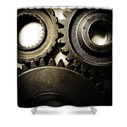 Cogs No12 Shower Curtain