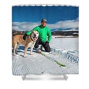 Colorado Cross Country Skiing Shower Curtain