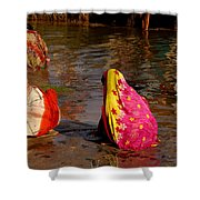 Hampi Ghats Shower Curtain