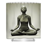 Meditation Pose Shower Curtain