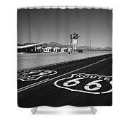 Route 66 Shield Shower Curtain