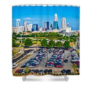 Skyline Of Uptown Charlotte North Carolina Shower Curtain