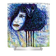Vintage Hair Comb Shower Curtain