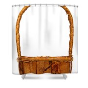 Wicker Basket Number Two Shower Curtain