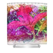 The Red Orchid Shower Curtain