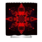 1107 - Mandala Red   Shower Curtain