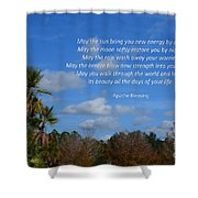 113- Apache Blessing  Shower Curtain