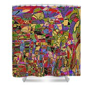 1144 Abstract Thought Shower Curtain