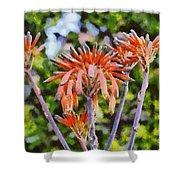 Aloe Vera Flowers Shower Curtain