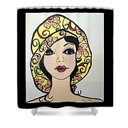 Flapper Girl Claire Shower Curtain