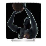 Basketball Shot Shower Curtain