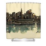 Boston Skyline Shower Curtain