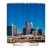 Charlotte City Skyline Autumn Season Shower Curtain