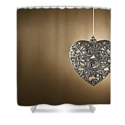 Christmas Tree Ornament Shower Curtain