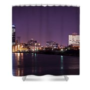 City Lights Skyline Shower Curtain