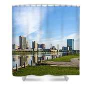 City Skyline Shower Curtain