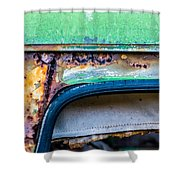 Colored Rust Metal Shower Curtain