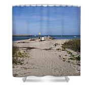 Fishing At Sebastian Inlet In Florida Shower Curtain